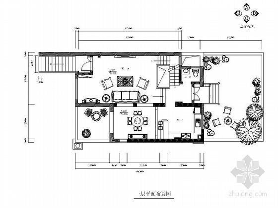 [重庆]三层双拼别墅室内装修图