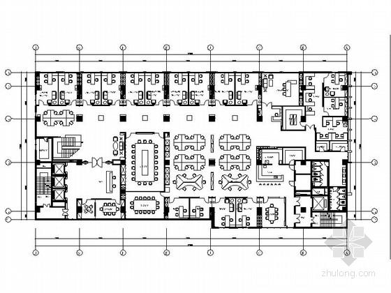 [上海]现代简约农庄办公室装修设计CAD施工图(含效果)