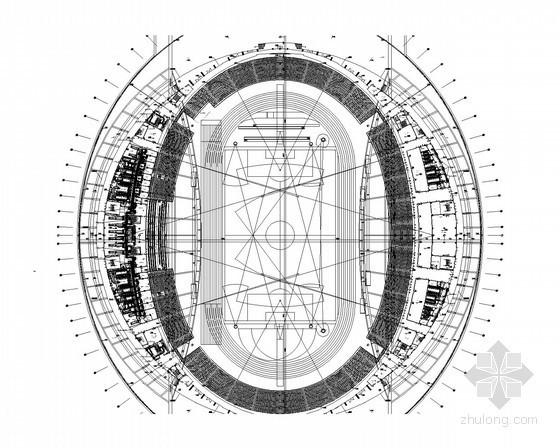 [江苏]三层体育中心建筑空调及通风排烟系统设计施工图(著名甲级设计研究院)