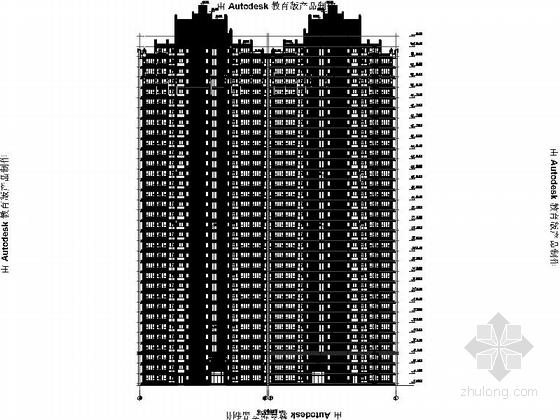 [安徽]Artdeco风格三十二住宅安置区建筑施工图(画图精细推荐参考)-Artdeco风格三十二住宅安置区建筑立面图