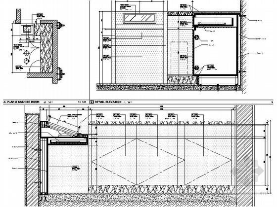 现代海鲜餐厅橱柜节点详图CAD图块下载