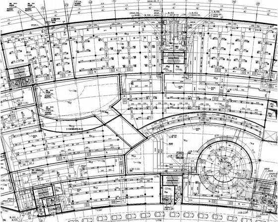 [江苏]地下商业建筑空调及通风系统设计施工图(室外热泵管网 人防系统)
