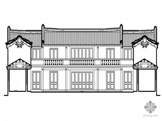 [西田]某祠堂建筑方案图