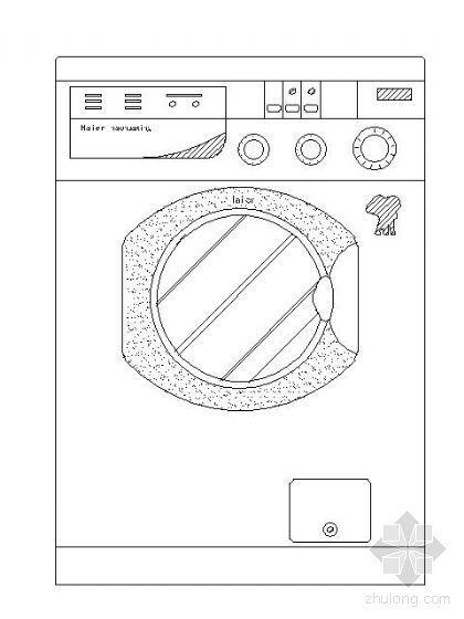 洗衣機平立面圖塊集