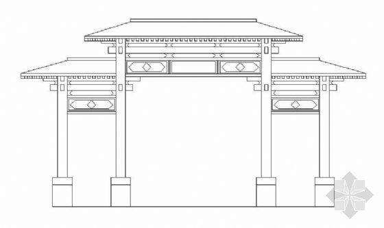 仿古典牌楼大门初步设计