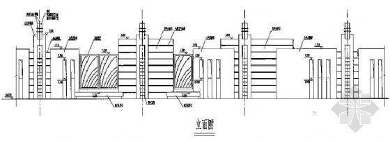 围墙施工详图及效果图(2)