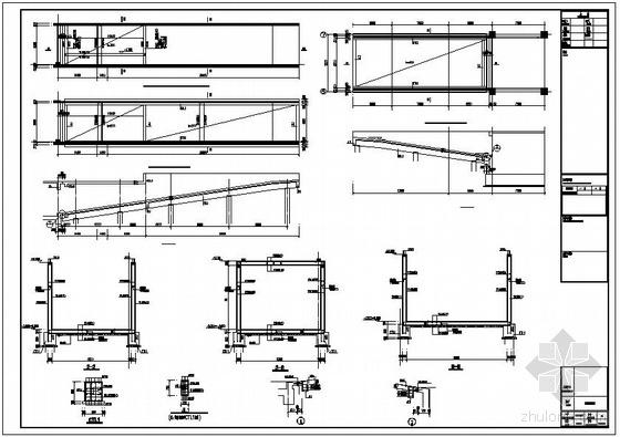 某大厦地下车库坡道节点构造详图