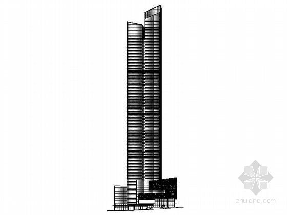 [深圳]超高层框架筒体结构节能型办公综合楼建筑施工图(含效果图)