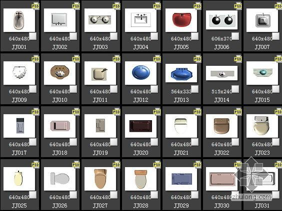 47种洁具平面PSD素材