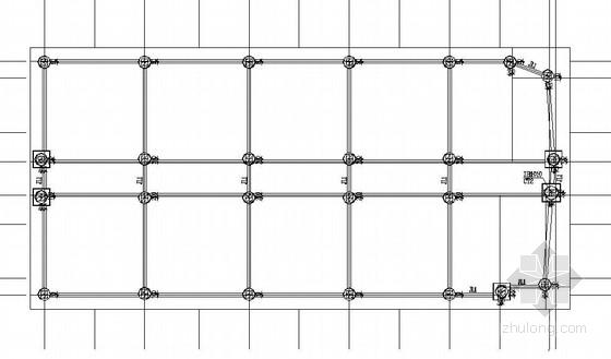 重庆某大学6层框架结构宿舍楼施工图(含建筑图)