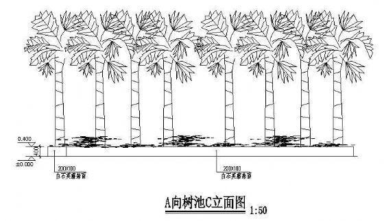 某广场树池施工详图-3