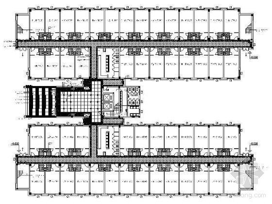 某星级酒店标准层平面设计图