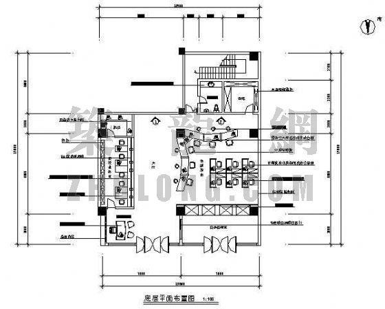 某银行营业厅装修图(二层)