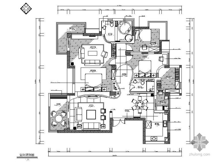 现代经典三居室装修图(含效果)