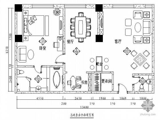 [石家庄]某商务会馆总统套房装修图