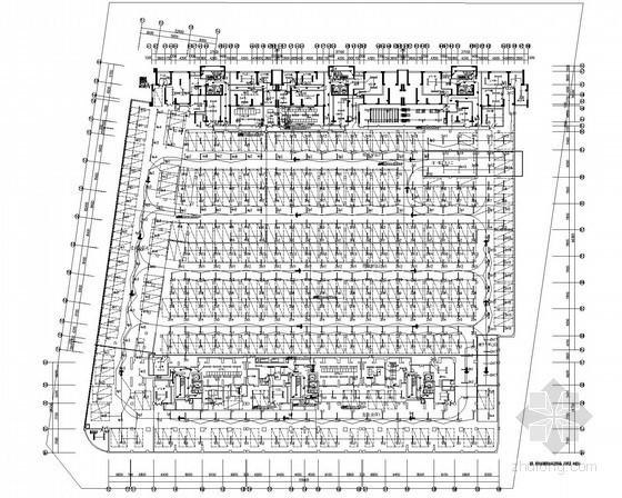 [广东]10万平方米商住楼全套电气施工图纸248张(含暖通)