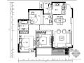 [重庆]现代中式三居样板房施工图(含效果)