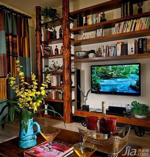 客厅背景墙也爱耍大牌你家客厅hold住吗?-这是森女必爱的森林系客厅,这样的客厅背景墙是不是带着一些原野乡村的况味呢?这样的返璞归真着实是大牌大手笔。
