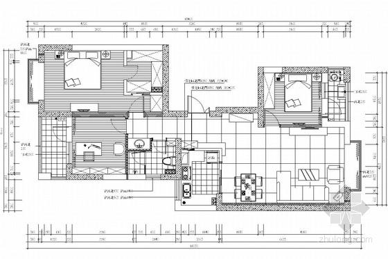 [杭州]现代风格两居室室内装修图