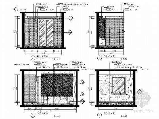 [山东]三层现代风格别墅室内装修施工图(含实景效果图)-[山东]三层现代风格别墅室内装修施工图客餐厅立面图