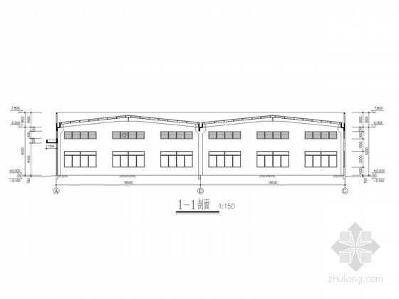 36米跨混凝土柱钢屋架厂房结构施工图(含建施)