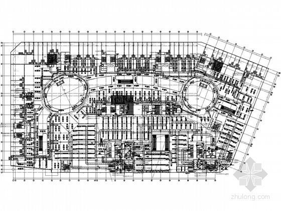 [山东]核心商业综合广场暖通空调设计全套施工图纸136张(40万平米)