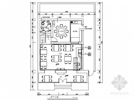 浓郁民族风格餐厅室内装饰设计施工图(含效果)