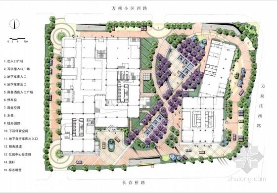 [北京]城市商业中心外环境景观设计方案