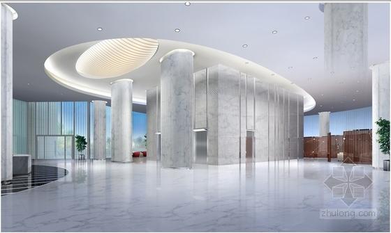 [南京]国家旅游景区现代科技活动中心室内装修施工图(含效果)大厅效果图