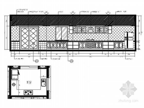 [常州]古典欧式三层别墅样板房装修图(含效果)厨房立面图
