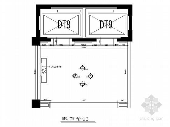 品牌酒店电梯间室内施工图