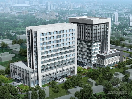 [青海]12层现代风格企业孵化基地建筑设计方案文本