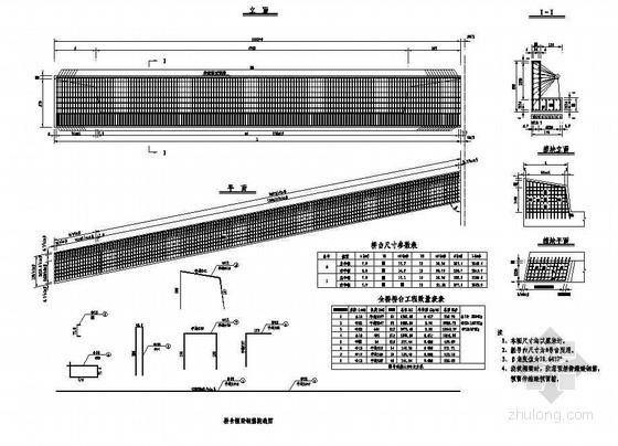 45m现浇预应力混凝土简支箱梁桥台帽梁钢筋构造节点详图设计