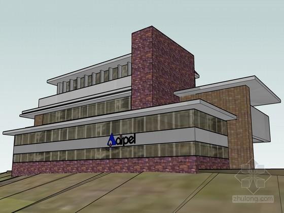 西式建筑SketchUp模型下载
