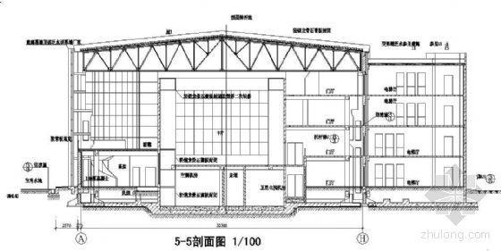 某局部四层体育会所建筑施工图