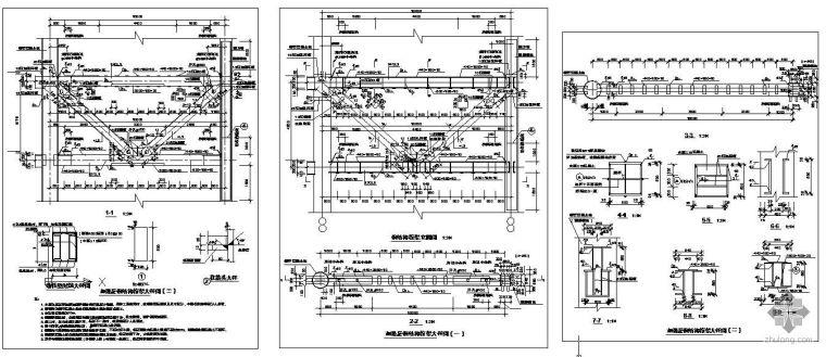 钢结构节点之加强层钢结构桁架节点构造详图