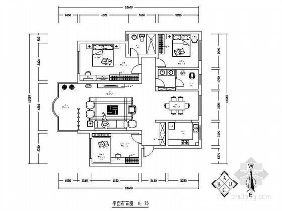 某三室两厅两卫家装装饰图