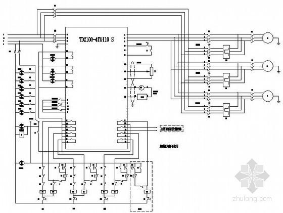 某恒压供水变频器控制原理图