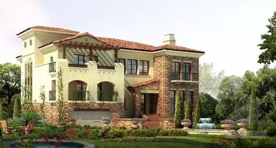 高层现代风格住宅区规划效果图