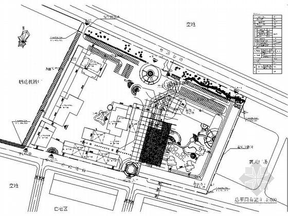 [四川]现代风格高层商务酒店建筑设计方案图-现代风格高层商务酒店建筑总平面图