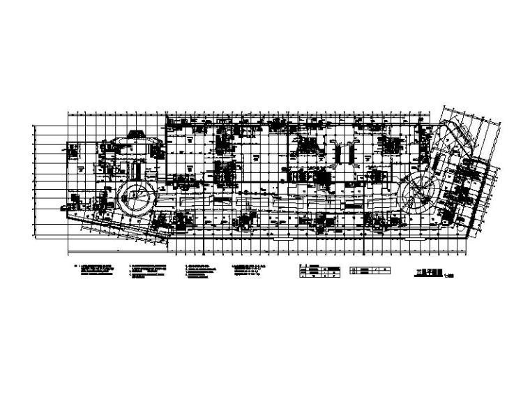 [福建]高层现代穿插式商业综合体建筑设计方案文本(含效果图)-高层现代穿插式体块商业综合体建筑首层平面图