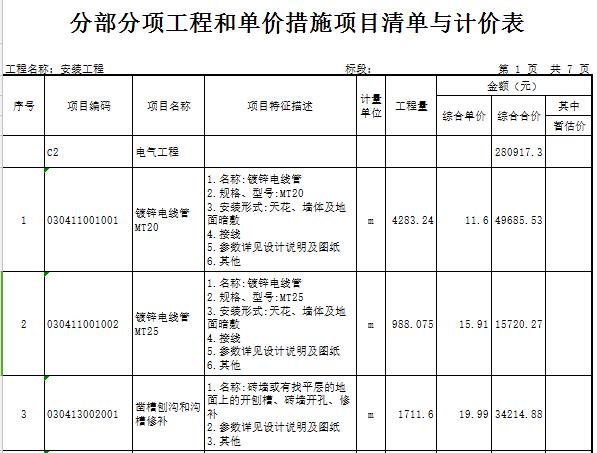 【广东】十层业基地项目公共空间(地下3层)装修工程预算书(图纸)_4