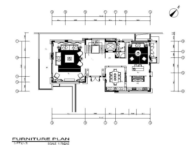 [广州]高档独栋别墅户型样板房设计施工图(含实景图)