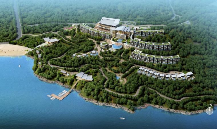 [广东]现代风格高端度假型山地酒店建筑设计方案文本
