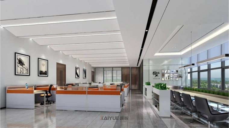 广州泰基工程办公楼装修设计-现代简约装修风格_2