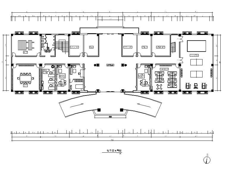 某部队综合作业楼设计CAD施工图(含效果图)