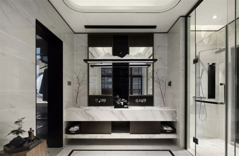 质朴材质也能构建空间气质,顶级别墅样板间设计_14