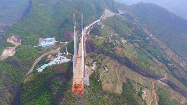 世界第一高桥北盘江大桥施工现场直击