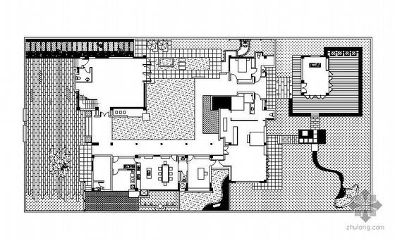 别墅私家花园景观设计施工图全套