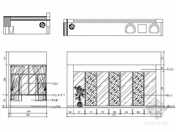 [绍兴]民营企业集团锦纶公司现代办公室装修施工图秘书室立面图